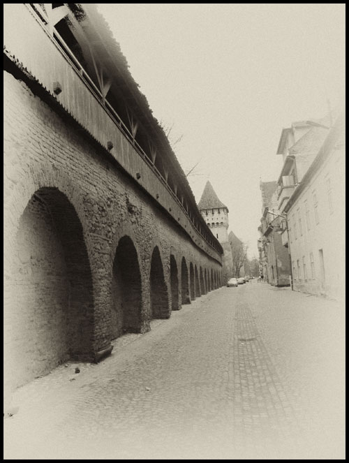 From the past I - Zid intre Turnul olarilor si Turnul Dulgherilor Sibiu