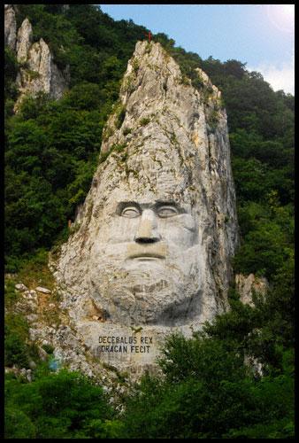 Decebalus Rex - Dragan Fecit - Statue of Decebalus near Orsova on the Danube