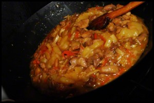 My second recipe for chinese food - Pinneaple chicken