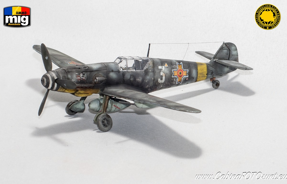 Messerschmitt Bf 109 Ga-2 in Romanian service 1:72 scale, AZ Model 7488 - Limited Edition, AMMO by Mig Acrylics, pigments and washes.