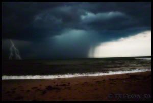 Furtuna in Vama Veche - Storm with lightning